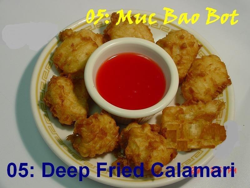 5. Deep Fried Calamari (8 pieces)