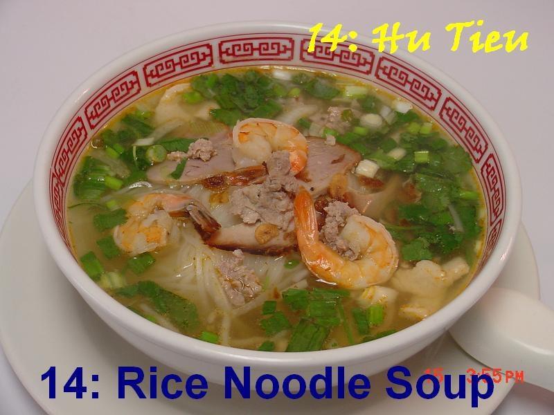 14. Rice Noodle Soup (Hu Tieu)