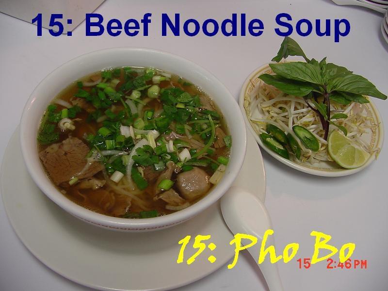 15. Beef Noodle Soup (Pho Bo)