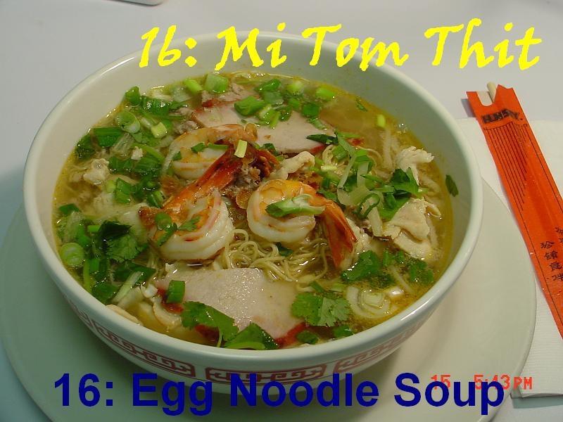 16. Egg Noodle Soup