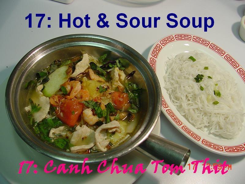17. Shrimp & Chicken Hot & Sour Soup