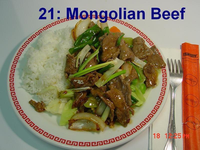 21. Mongolian Beef