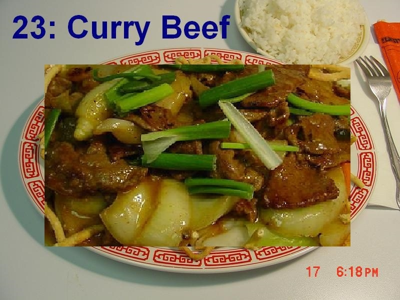 23. Curry Beef