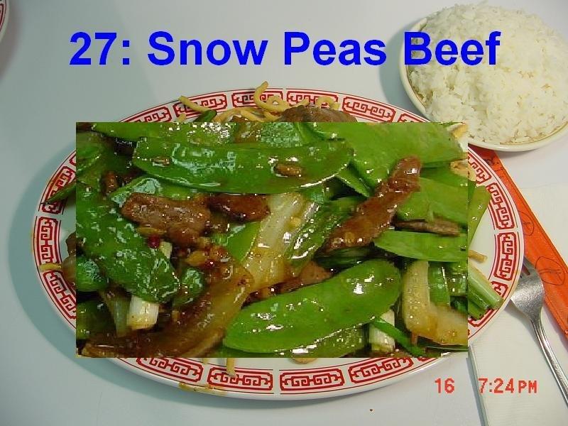 27. Snow Peas Beef
