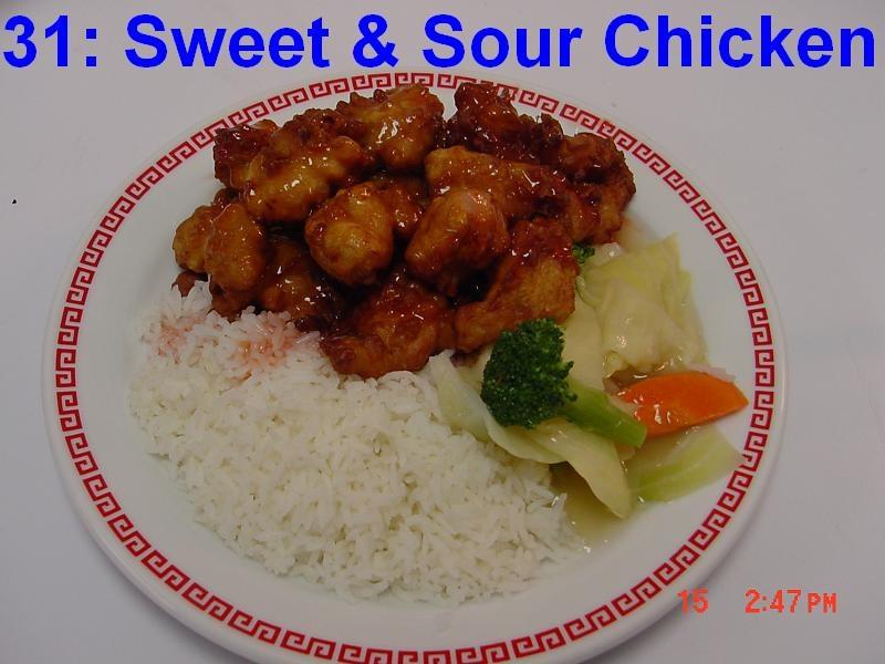 31. Sweet & Sour Chicken