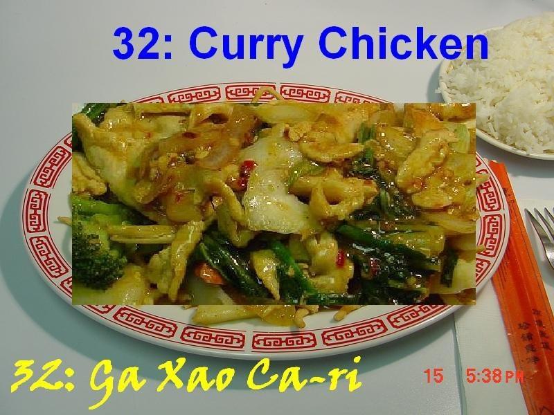 32. Curry Chicken