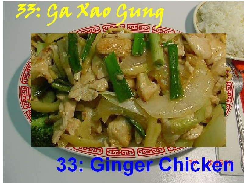 33. Ginger Chicken