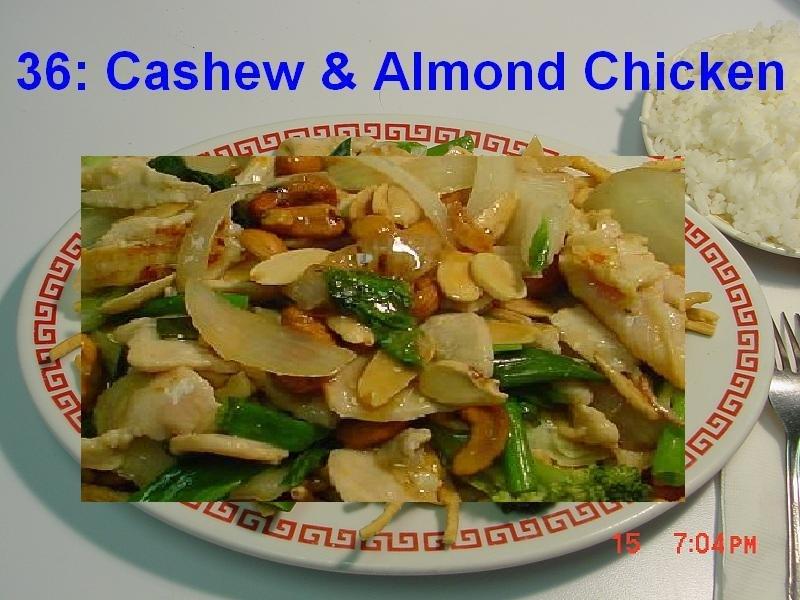 36. Cashew & Almond Chicken