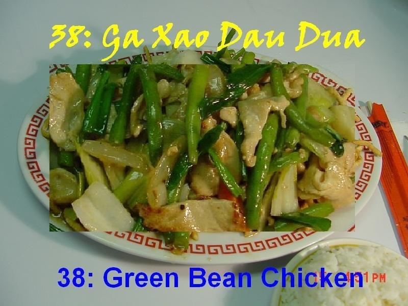 38. Green Bean Chicken