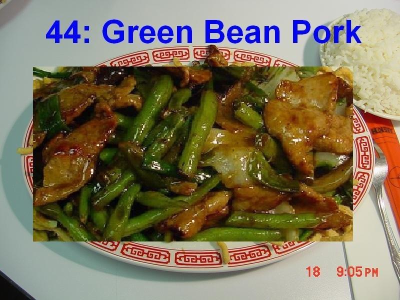 44. Green Bean Pork