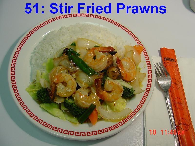 51. Stir Fried Shrimps
