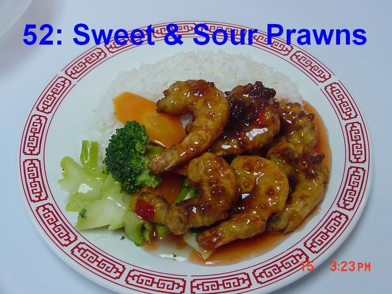 52. Sweet & Sour Shrimps