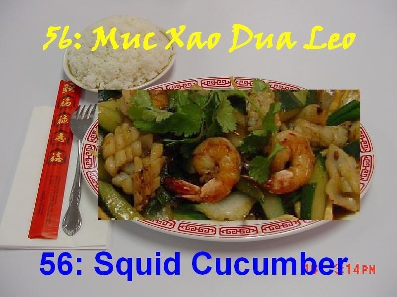 56. Squid Cucumber