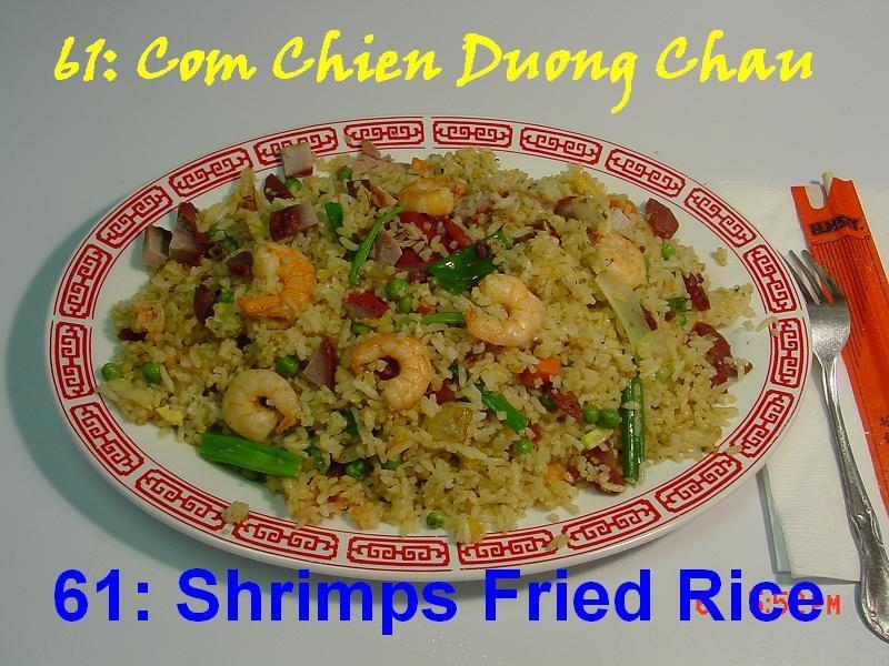61. Shrimps & Chinese Sausage