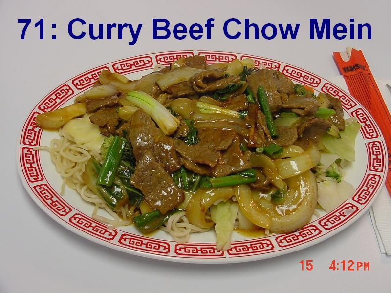 71. Curry Beef Chow Mein