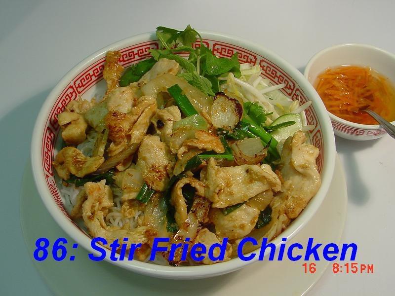 86. Stir Fried Chicken