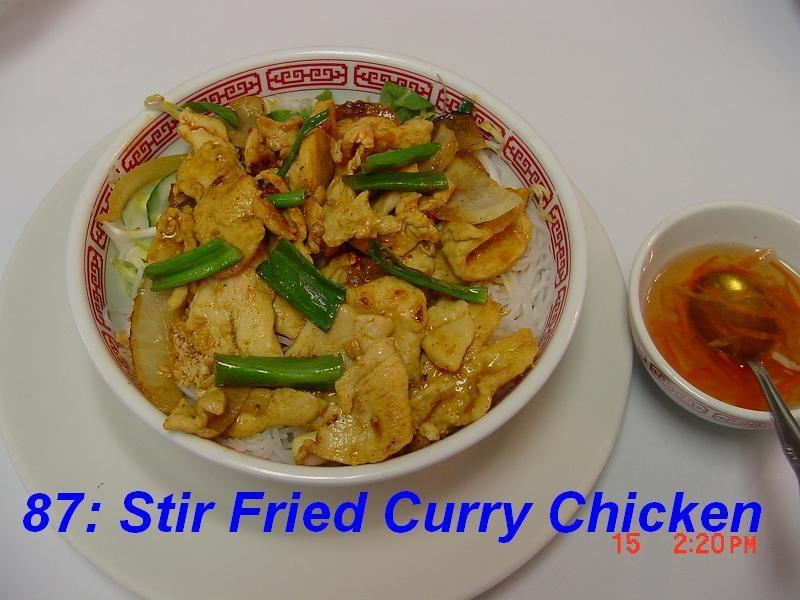 87. Stir Fried Curry Chicken