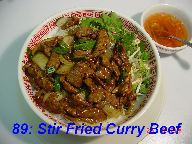 89. Stir Fried Curry Beef