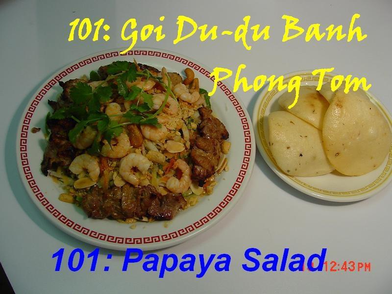 101. Green Papaya Salad (Goi Du Du)