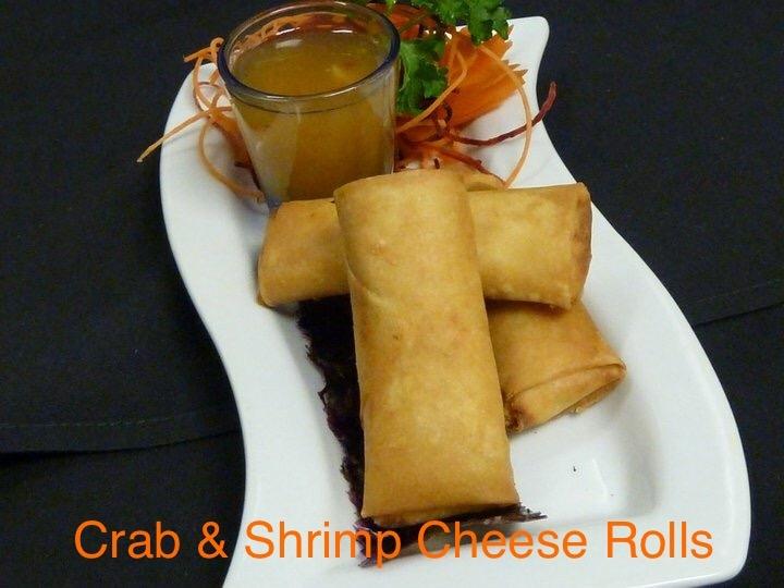 Crabmeat & Shrimp Cheese Rolls (Por-Pia Poo)