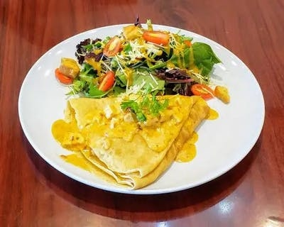 Chipotle Roasted Chicken Crepe