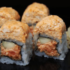 Spicy Tuna and Spicy Cooked Albacore Roll