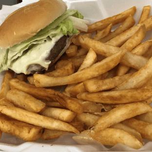 Cheeseburger on Bun Combo Meal
